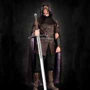 Black Noble Hooded Cape
